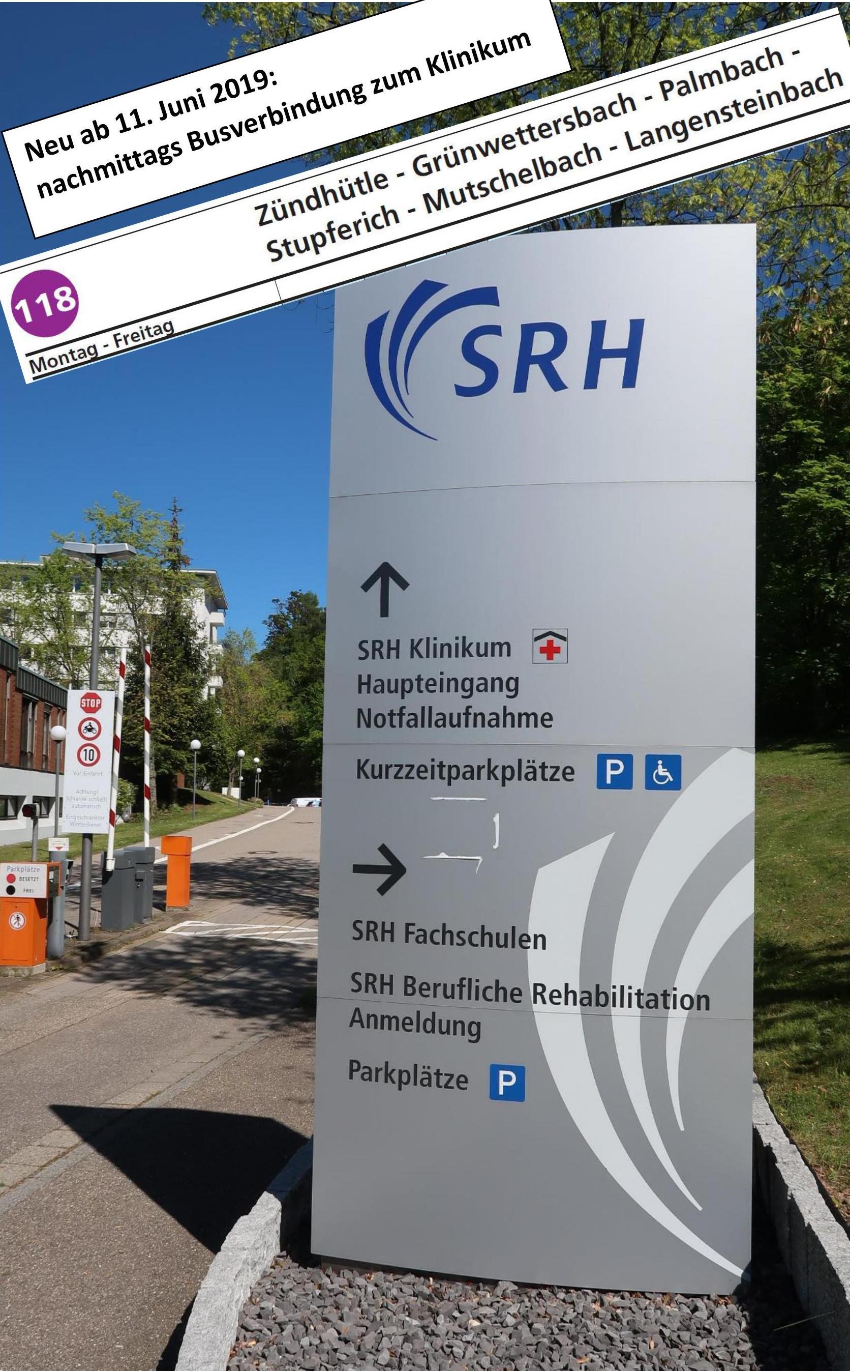 Bus 118 zum SRH-Klinikum Karlsbad - Langensteinbach