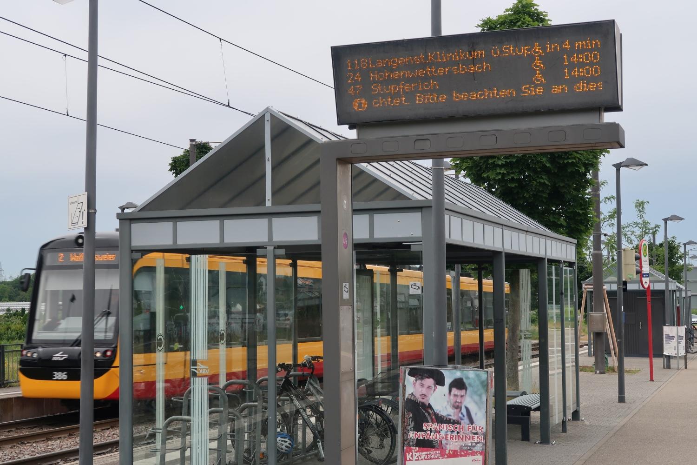KVV-Haltestelle Durlach-Zündhütle