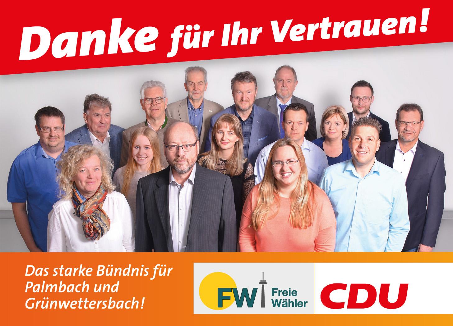 Danke für Ihr Vertrauen - CDU/FW-Wettersbach